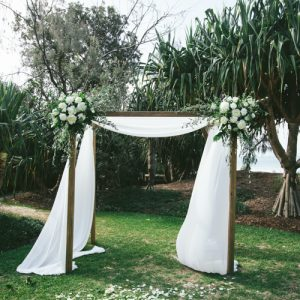 Timber 4-Post Arbor (including Fabric Draping)