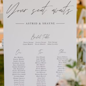 Custom Printed Seating Plan