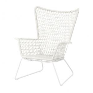 White Woven Armchair