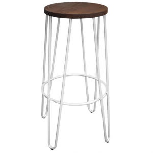 White Hairpin Stool