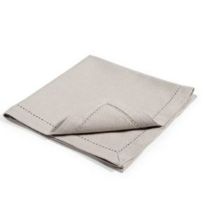 Grey Linen Hemstitch Napkin