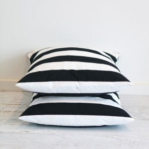 Black & White Stripe Cushion