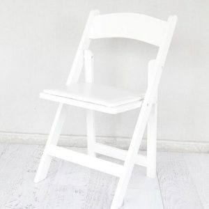 White Timber Folding Chair