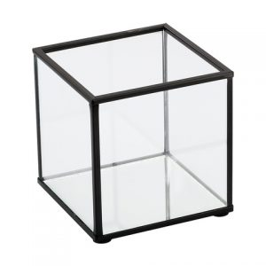 Black Frame Candle Holder Small