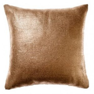 Copper Metallic Cushion