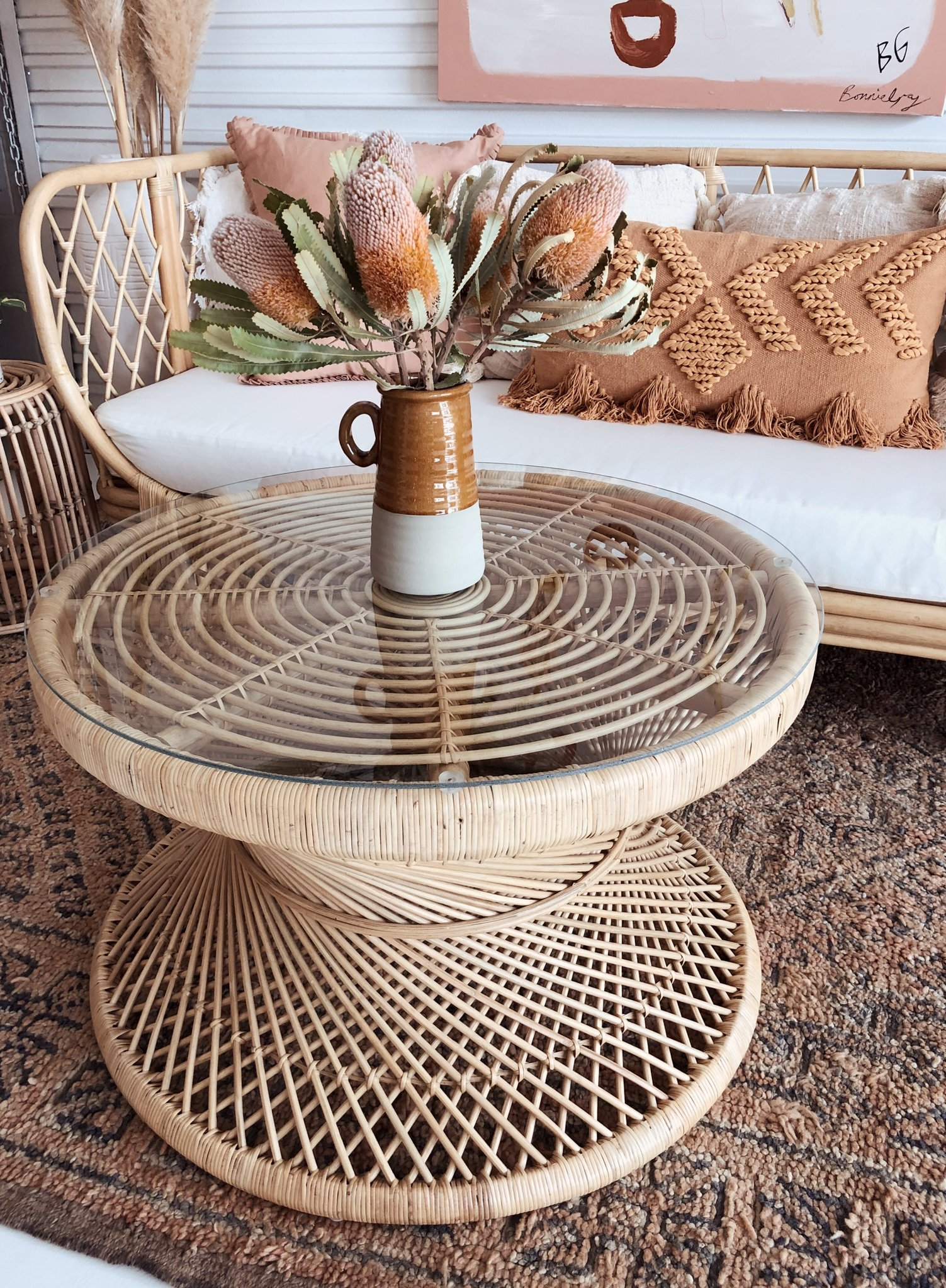 Picture of: Rattan Coffee Table Simply Style Co