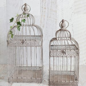 Wire Bird Cage Set