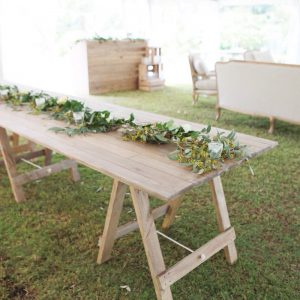 Timber Trestle Table 2.4m X .90