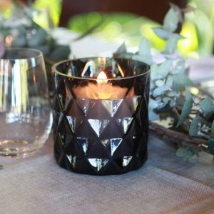 Black Diamond Glass Votive