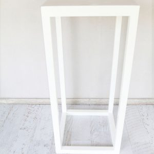 White Timber Bar Table