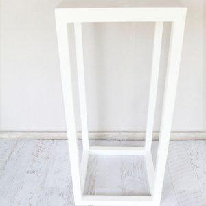 White Timber Bar Table