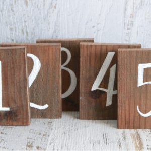 Timber Table Number