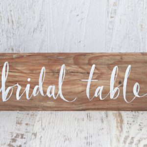 Wooden Bridal Table Sign