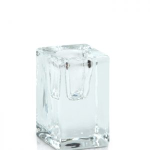 Glass Cube Taper Holder