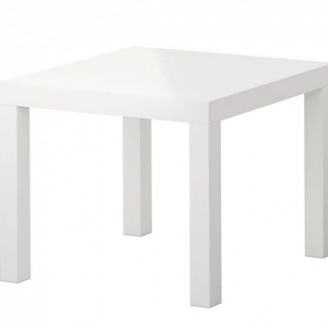White Timber Side Table